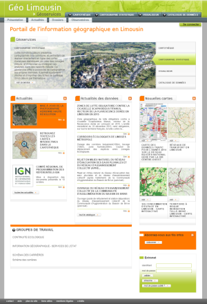 geolimousin.fr - Site Internet - accueil