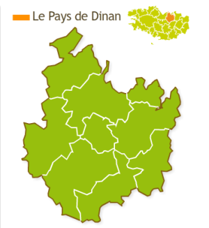 Illustrations pour le site Internet du Pays de Dinan - Carte interactive et administrable