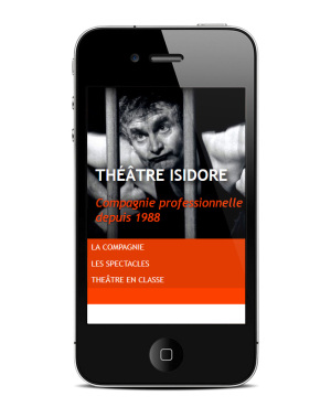 theatre-isidore.fr — Page d'Accueil, version mobile - Site Internet