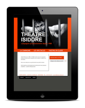 theatre-isidore.fr — Page d'Accueil, version tablette - Site Internet