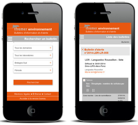 Bulletins d'information et d'alerte – Version mobile — Site Internet