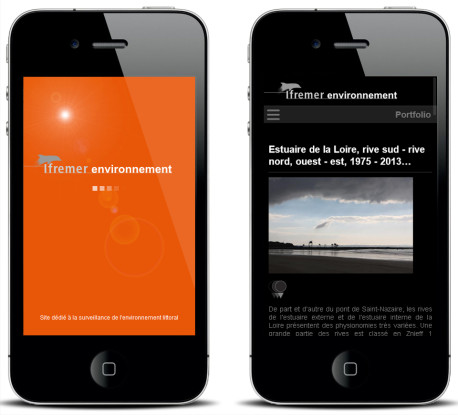 Environnement littoral – Version mobile — Site Internet