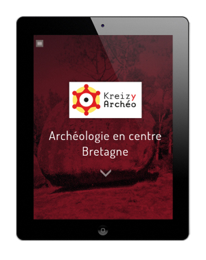 kreizyarcheo.bzh - Site internet - Accueil, version tablette