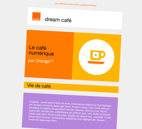Orange - Newsletter Dream Café